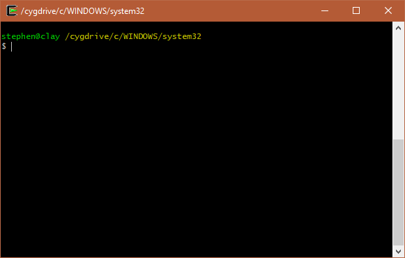 Opening Cygwin