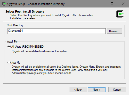 Select Root Directory